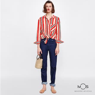 Women Casual Top Multi Stripe MOS Exclusive Hwzxq5F