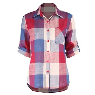Casual Shirt Women Checks Multi MOS wqAUCZn