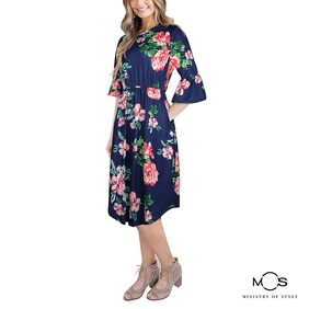 Ministry of Style Floral Dress - Blue
