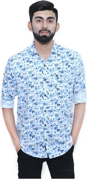 MOUNTWELL Men Slim fit Casual shirt - Blue
