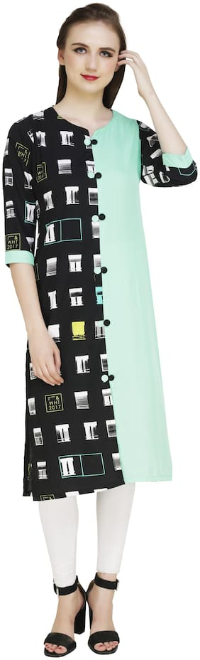 MPC Women Multi Printed Straight Kurti