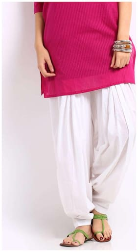 MPI Cotton Salwar - White