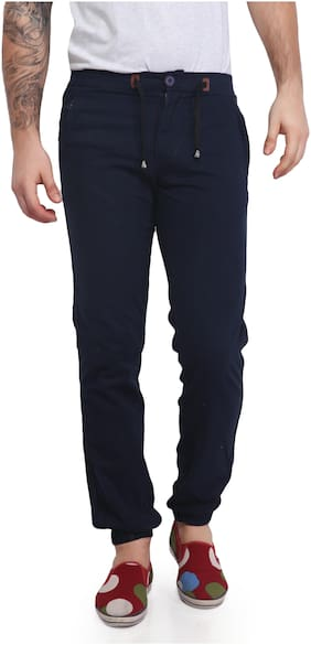 Mr. Stag Men's Navy Blue Casual Trouser 28
