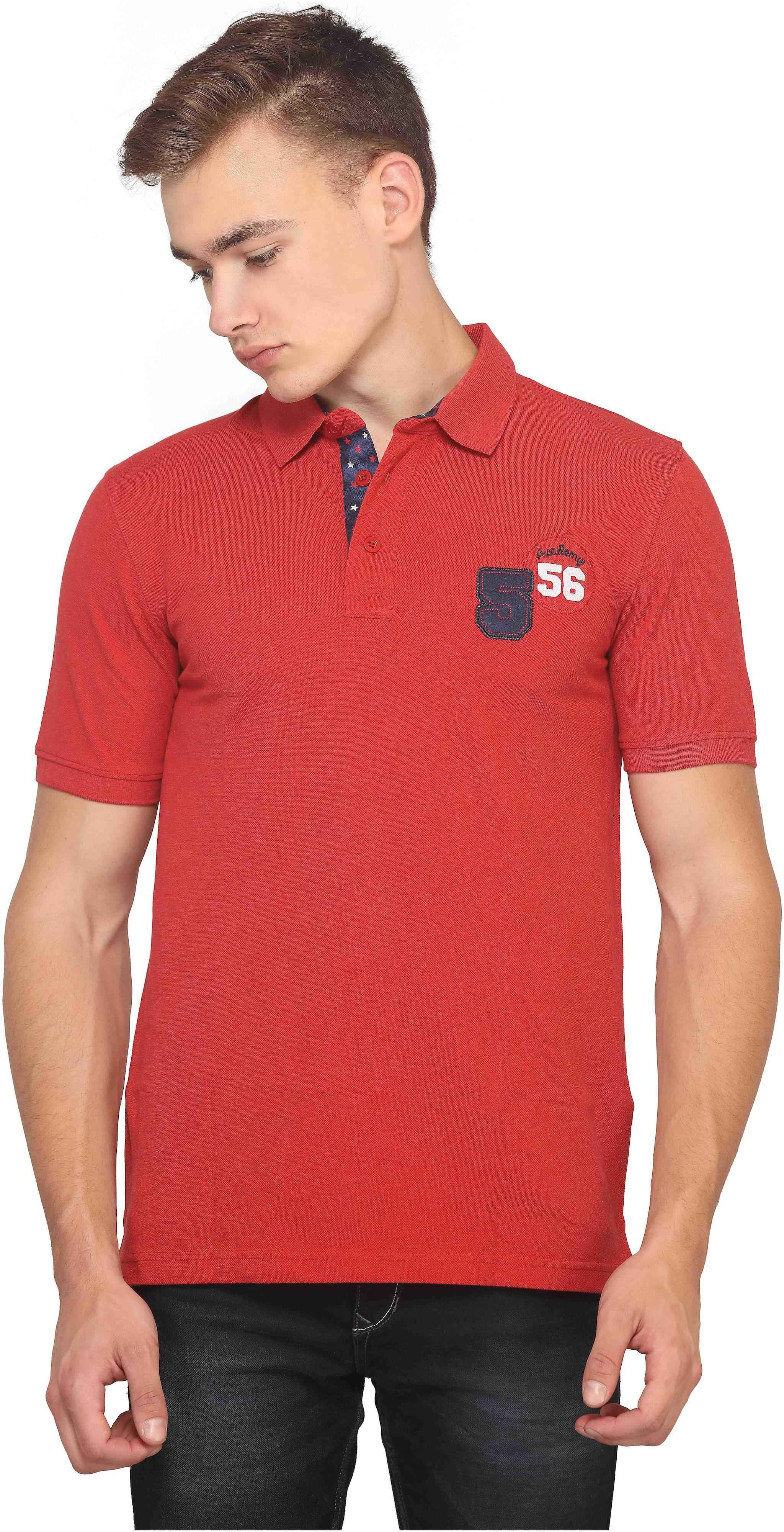 94e5ca60794f https://assetscdn1.paytm.com/images/catalog/product/. Mr.Stag Plain Men's  Collar Neck Red Half Sleeves ...