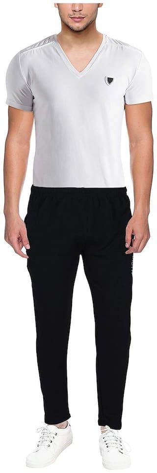 MR.TAYLORZ Men Cotton Solid Pyjama - Black