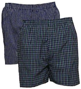 Men Cotton Checked Underwear ,Pack Of 2