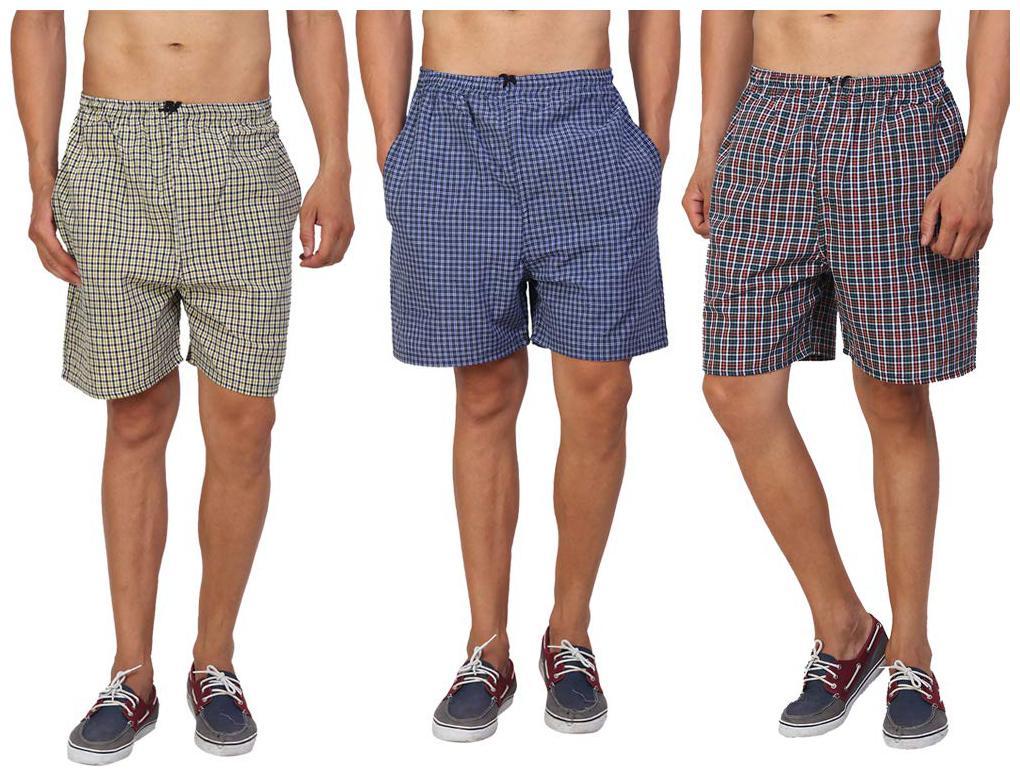 Men Cotton Checked Underwear