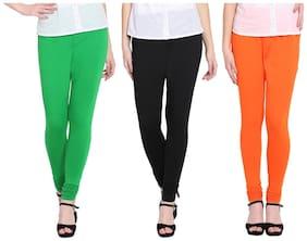 MSBEAS Cotton & Lycra Leggings - Black & Green