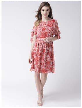 c97059adc71 MsFQ women s Printd dress with waist tie up