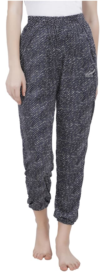 MSZO 999 Silk Printed Black Color Trouser For Women