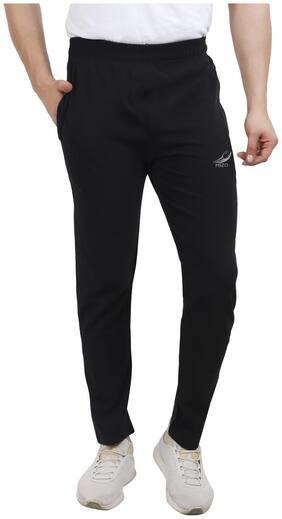 MSZO Men Black Solid Slim fit Track pants