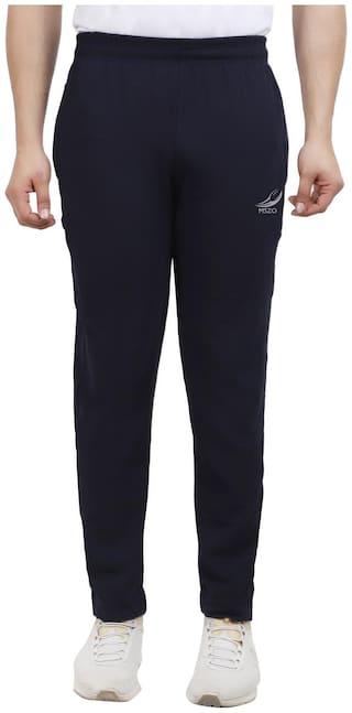 MSZO Men Blue Solid Slim fit Track pants