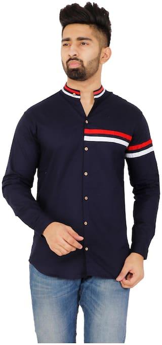 Muditcrafts Men Slim Fit Casual shirt - Blue