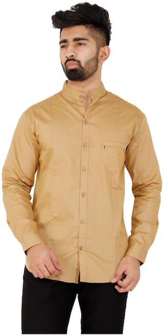 Muditcrafts Men Slim Fit Casual shirt - Yellow