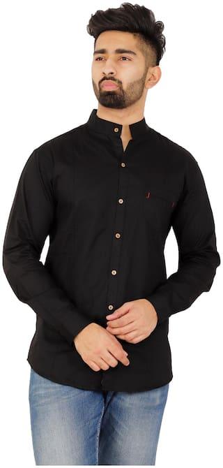 Muditcrafts Men Slim Fit Casual shirt - Black
