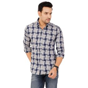 Muditcrafts Men Slim Fit Casual shirt - Blue
