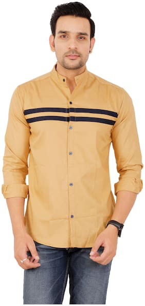 Muditcrafts Men Slim Fit Casual shirt - Yellow