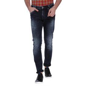 Mufti Men Mid Rise Narrow Fit ( Narrow ) Jeans - Blue