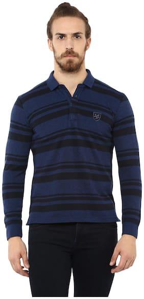 Men Polo Neck Striped T-Shirt