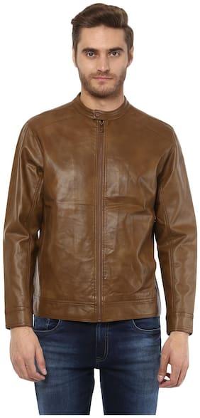 Men Viscose Rayon Long Sleeves Biker Jacket