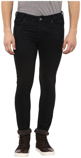 Mufti Men Mid rise Skinny fit Jeans - Black