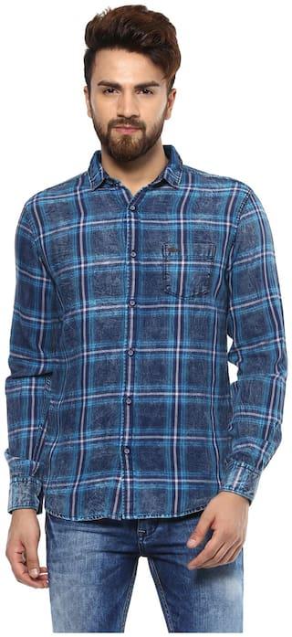 Mufti Men Slim fit Casual shirt - Blue