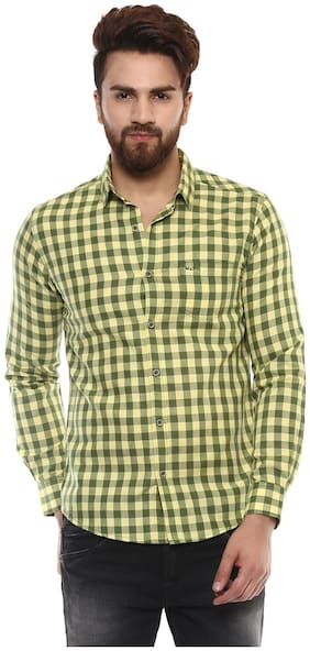 Mufti Men Slim fit Casual shirt - Green