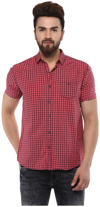 Mufti Men Slim fit Casual shirt - Red