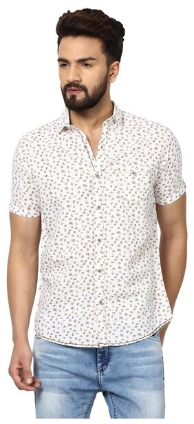 Mufti Men Regular Fit Casual shirt - White