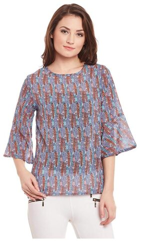 Multicolor Bell Sleeve Top