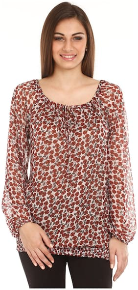 Mustard Red Cotton Top (Size-S)