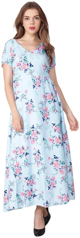 My Swag White Floral Maxi dress