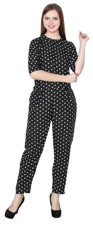 Buy My Swag Women s Black Polka Dot Crepe Jumpsuit Online at Low ... b4b9e88acc
