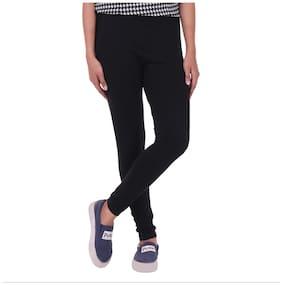 FashGlam Premium Women Cotton Tights - Black