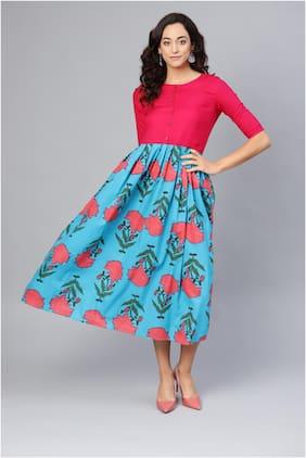 Myshka Multi Printed Fit & flare dress