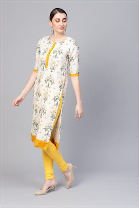 Myshka Women Multi Floral Straight Kurta