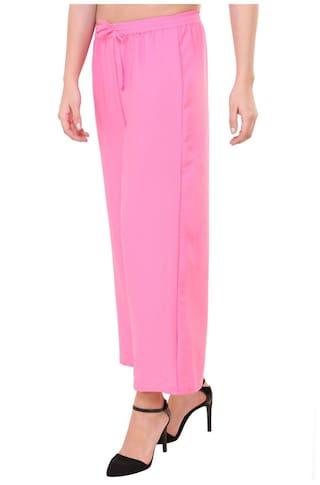 pink Plain pants Crep American trouser Myshka OT5Rqq