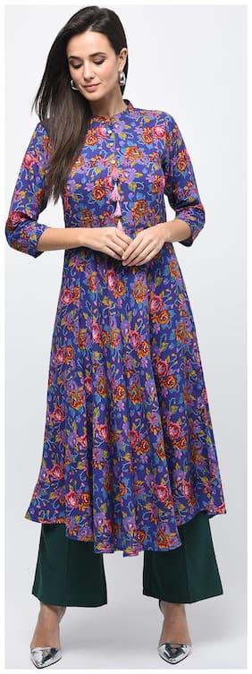 Myshka Blue Solid A-line dress