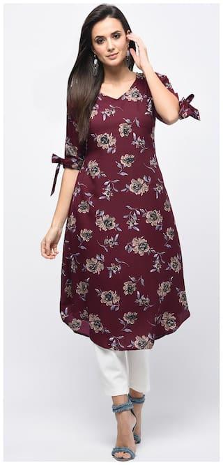 Myshka Red Printed A-line dress