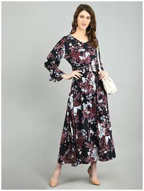Myshka Multi Floral Fit & flare dress