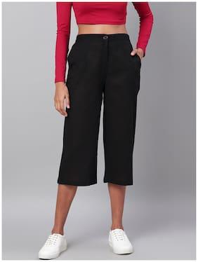 Myshka Women Black Regular fit Cullotes