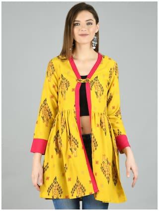 Myshka Women Shrug - Yellow