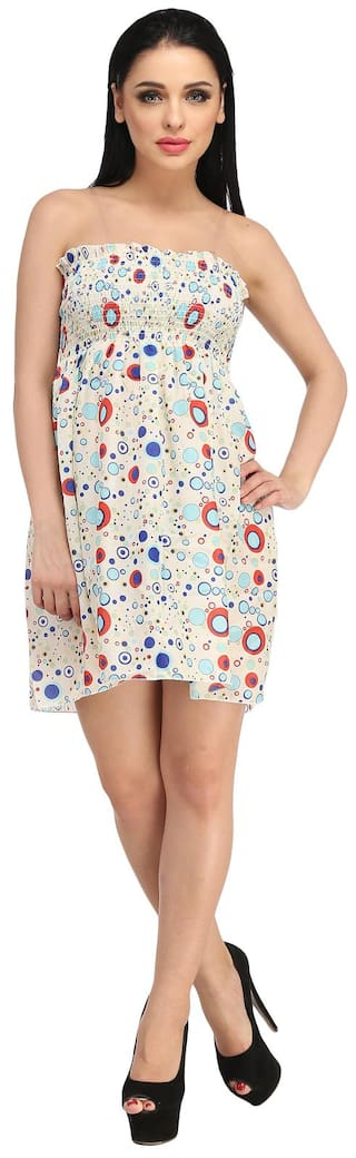 Gal Summer Strapless Short Dress Print N Bubbles Sn7xgq67F
