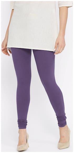 N-Gal Cotton Leggings - Purple