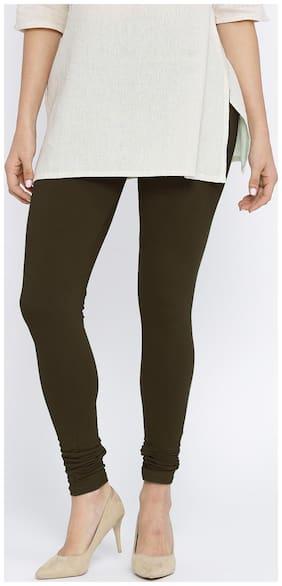N-Gal Cotton Leggings - Brown