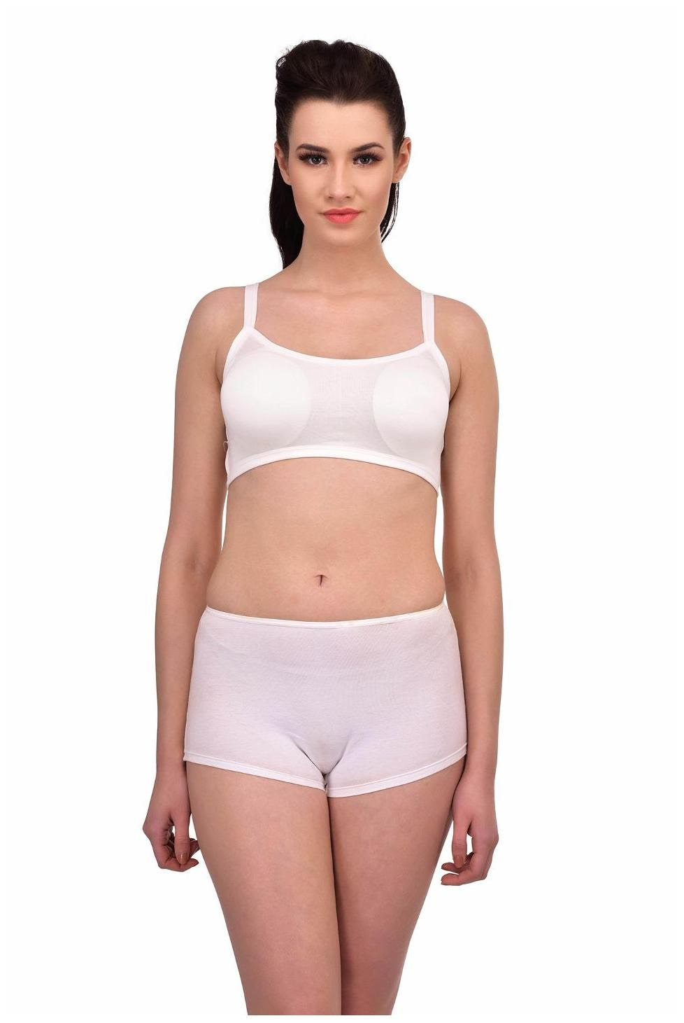 0e90962344188 Buy N-Gal Stylish 3 Straps Back Caged White Underwire Crop Top T-Shirt  Padded Bra Bralette Online at Low Prices in India - Paytmmall.com