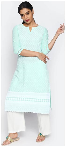 Women Embroidered A Line Kurti
