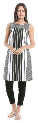 Women Striped Straight Kurta
