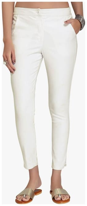 Women Embroidered Cigarette Pants