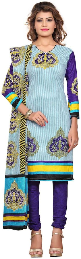 Nakoda Creation Women's Cotton Salwar Suit Dress Material(Multicolor)